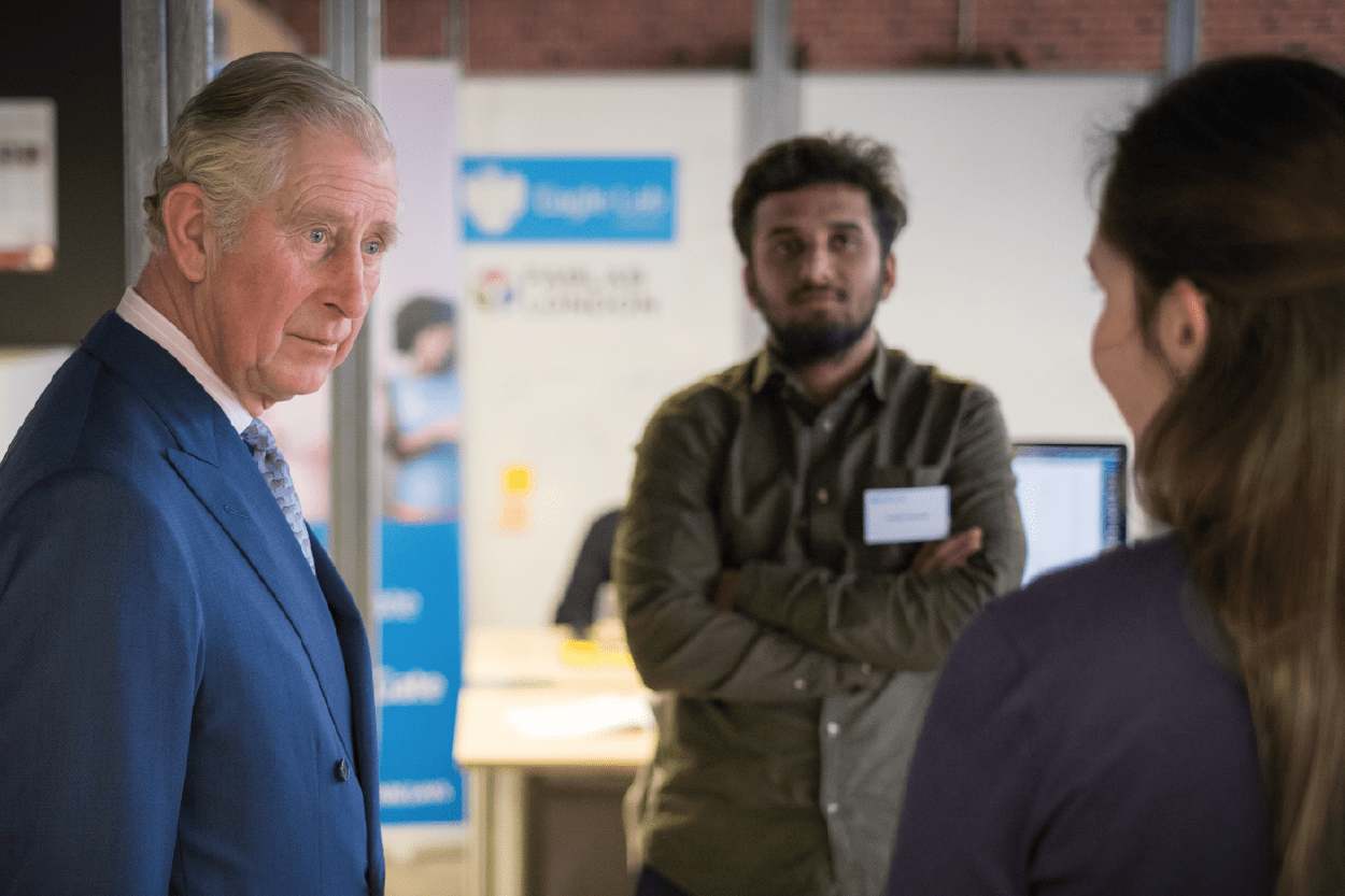 HRH Prince of Wales meets the Yagro team